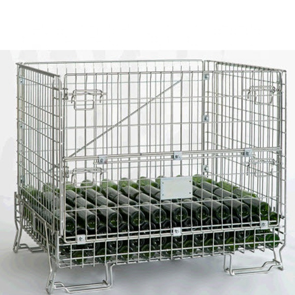 Wire Mesh Container for Bottles
