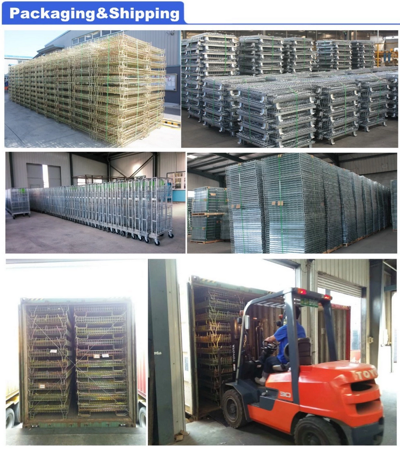 Folding Collapsible Industrial Wire Mesh Ball Storage Cage