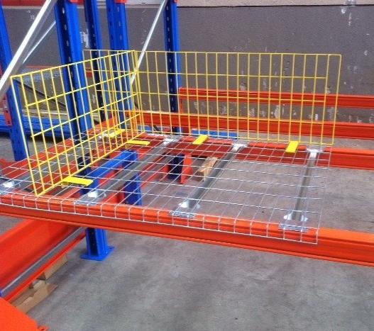 Factory Heavy Duty Wire Mesh Decks Storage Racking Shelves
